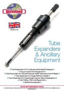 Wicksteed Brochure - Tube Expanding & Ancillary Equipment